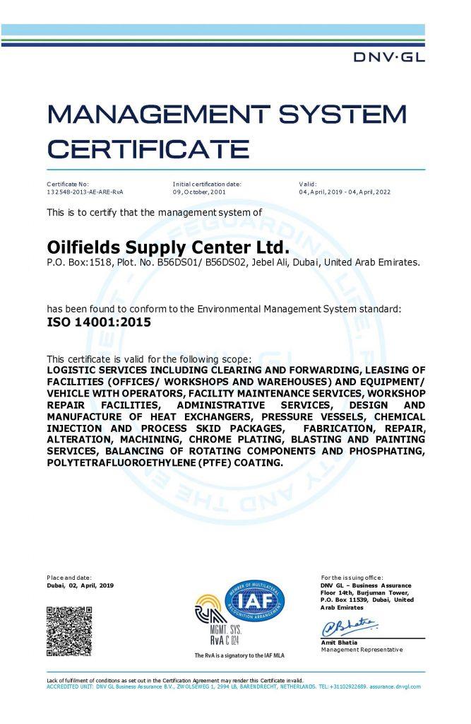 OSC - Oilfields Supply Center Limited